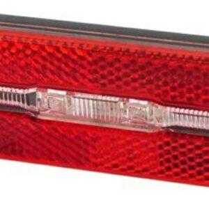Lampa tył JY-6500M BOX 16 na bagażnik 80mm, podtrzymanie