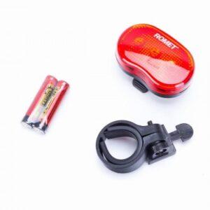 Lampa tylna 3-LED z bateriami mod.R-201 blister et/logo ROMET