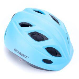 Kask rowerowy dziecięcy ROMET model 510 błękitny