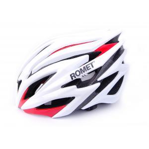 Kask rowerowy Romet biało-czerwony