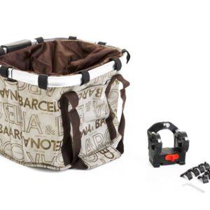 Koszyk na kierownicę z materiału HB-143/KLIP/ 370X250X240 mm