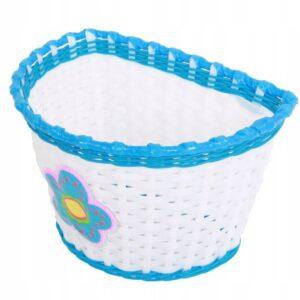 Koszyk dziecięcy plastikowy biało-niebieski z kwiatkiem BSO