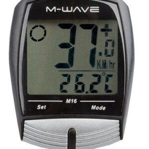 Licznik rowerowy M-WAVE 16 FUNKCJI M16